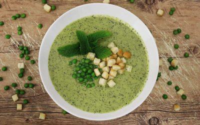 Erbsen Minze Suppe (vegan)