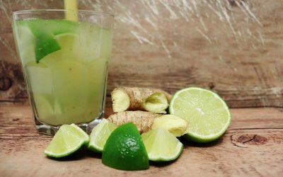 Ingwer-Limetten-Basilikum Limo